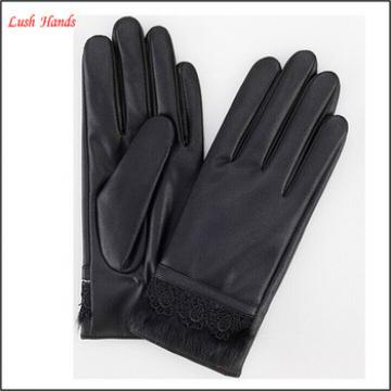 Best sale ladies and grils touch screen sheepskin leather gloves