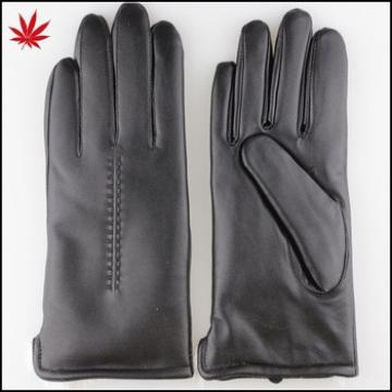 Women customized rabbit fur leather gloves