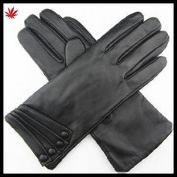 hot selling women fashion basic style leather glove