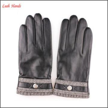 New Style Genuine Sheepskin men's Winter Warm Leather Gloves