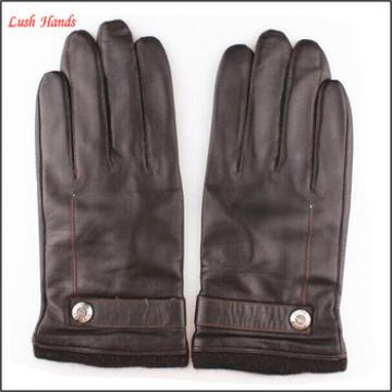 Men's New Style Genuine Sheepskin Soft Leather Winter Warm Gloves
