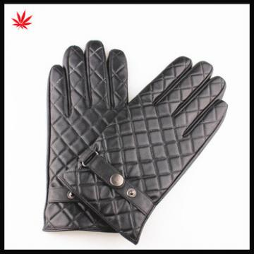 Hot sale leather gloves mens with belts warm leather gloves