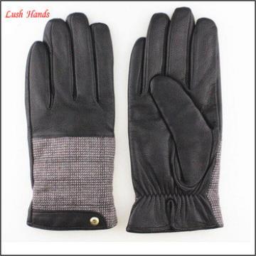 Men's Fashion High Design Soft Sheepskin Leather Gloves