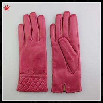 sexy girls new design winter pink leather glove