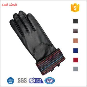 new 2016 beautiful design dresses raw sheepskin leather glove