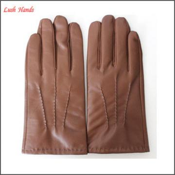 mens fashion basic hand made genuine leather glove from manufactory