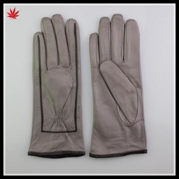 custom made fashion design leather glove for ladies
