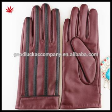 2016 Red women sheepskin shell acrylic lining leather gloves factory price