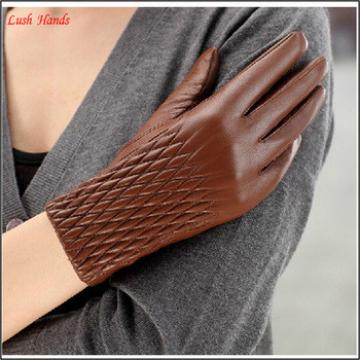 Sexy women leather hand gloves winter