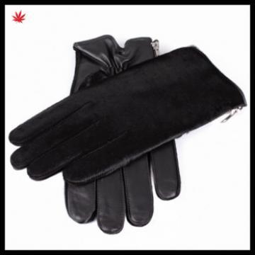 fashion women horsehair short leather glove