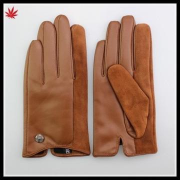 wholesale winter wearing short fashion leather glove women