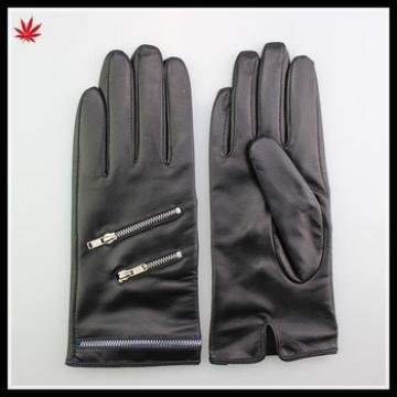 beautiful women sexy dress patterns chrome zipper hand gloves