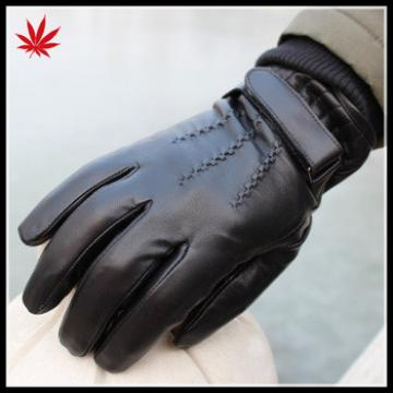 Fashion Touch Screen Mens Leather Gloves