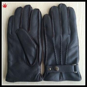 mens leather glove texture goat leather glove mens basic design glove