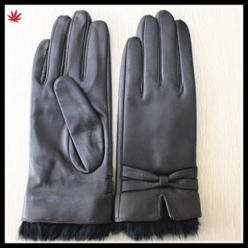 rabbit fur wholesale sexy dresses raw sheepskin leather glove