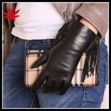 Women leather gloves with long tassels make you fashion