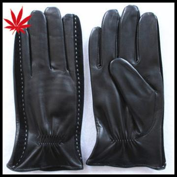 Leather winter gloves personalized for men