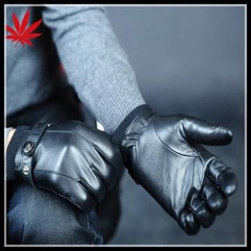 Good Quality Mens Soft&Warm Genuine Lambskin Leather Gloves Cashmere Lined