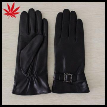 belts on the back women leather gloves for driving