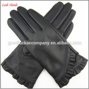 fashion leather gloves touch screen for girls