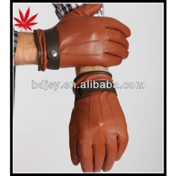 wholesale winter gloves made of teal lambskin leather for men