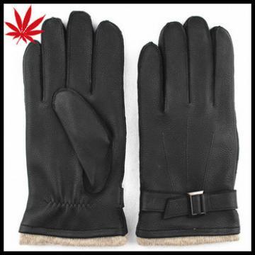 Men's deerskin leather gloves,high-end buckskin gloves
