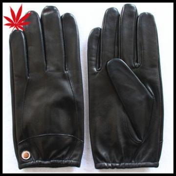 Men's nude leather gloves simple style in europe