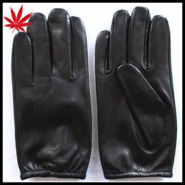 Men's basic and simple style short leather gloves
