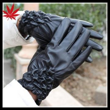 Ladies silk lined sheepskin nappa leather gloves
