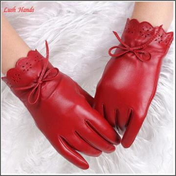leather glove ladies wearing sexy red leather glove