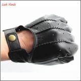 Goatskin half finger driving leather gloves fingerless leather gloves