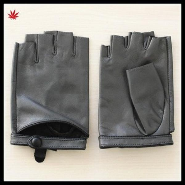 women's wearing fashion sexy fingerless leather driving glove #1 image