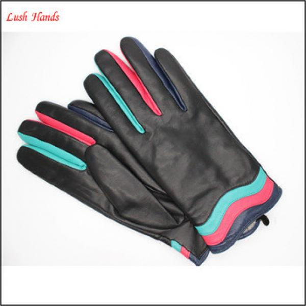 ladies fashion genuine sheepskin leather hand gloves colorful with Article color clip #1 image